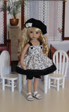 Sophisticated Vine - babydoll top, bloomers, beret & sandals for Little Darling Doll