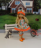 Speedy Snail - babydoll top, bloomers, hat & shoes for Little Darling Doll or 33cm BJD