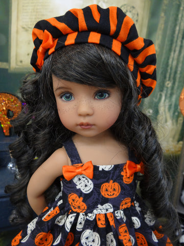 Spooktacular - dress, hat, tights & shoes for Little Darling Doll or 33cm BJD