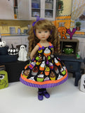 Spooktacular Cupcakes - dress, socks & shoes for Little Darling Doll or 33cm BJD
