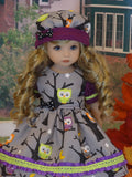 Spooky Forest - dress, hat, tights & shoes for Little Darling Doll or 33cm BJD