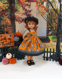 Spooky Graveyard - dress, sweater, hat, tights & shoes for Little Darling Doll or 33cm BJD