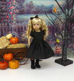 Spooky Night - Halloween ensemble with tights & boots for Little Darling Doll or 33cm BJD