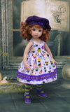 Spooky Treats - dress, jacket, beret, tights & shoes for Little Darling Doll or 33cm BJD