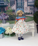 Spring Berry - dress, beret, tights & shoes for Little Darling Doll or other 33cm BJD