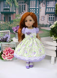 Spring Countryside - dress, tights & shoes for Little Darling Doll or 33cm BJD