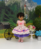 Spring Fraulein - dirndl ensemble with tights & boots for Little Darling Doll or 33cm BJD