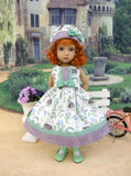 Spring Hedgehog - dress, hat, socks & shoes for Little Darling Doll or other 33cm BJD