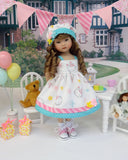 Spring Hello Kitty - dress, hat, socks & shoes for Little Darling Doll or 33cm BJD