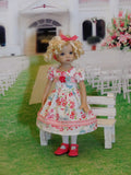 Spring Robin - dress, tights & shoes for Little Darling Doll