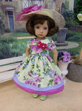 Spring Rose - dress, hat, tights & shoes for Little Darling Doll or 33cm BJD