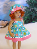 Springtime Sun - babydoll top, bloomers, hat & sandals for Little Darling Doll