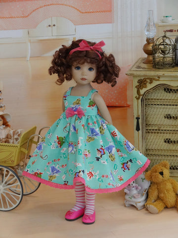 Springtime In Wonderland - dress, tights & shoes for Little Darling Doll