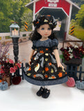 Squirrels in Fall - dress, hat, tights & shoes for Little Darling Doll or 33cm BJD