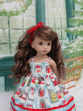 St. Nick - dress, tights & shoes for Little Darling Doll or 33cm BJD