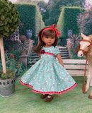 Stable Girl - dress, tights & shoes for Little Darling Doll or other 33cm BJD