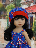 Star Spangled - dress, jacket, hat & sandals for Little Darling Doll