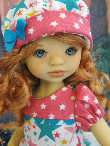 Star Struck - dress, hat, tights & shoes for Little Darling Doll