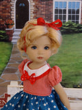 Stars & Stripes - dress, socks & shoes for Little Darling Doll