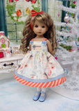 Stockings Were Hung - dress, tights & shoes for Little Darling Doll or 33cm BJD