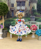 Stormy Weather - dress, tights & shoes for Little Darling Doll or other 33cm BJD