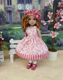 Strawberry Dream - dress, hat, socks & shoes for Little Darling Doll or 33cm BJD