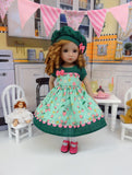Strawberry Sweets - dress, hat, tights & shoes for Little Darling Doll or 33cm BJD