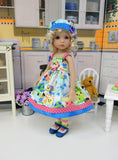 Sugar Rush - dress, hat, tights & shoes for Little Darling Doll or 33cm BJD