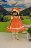 Summer Butterfly - jumper, romper, hat, socks & shoes for Little Darling Doll