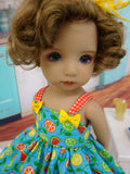Summer Citrus - dress, socks & shoes for Little Darling Doll or 33cm BJD