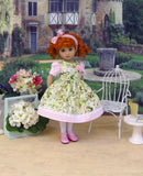 Summer Dogwood - dress, tights & shoes for Little Darling Doll or 33cm BJD