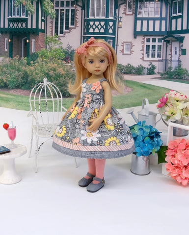 Summer Enchantment - dress, tights & shoes for Little Darling Doll or 33cm BJD