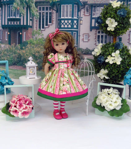 Summer Iris - dress, tights & shoes for Little Darling Doll or 33cm BJD