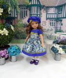 Summer Meadow - dress, hat, socks & shoes for Little Darling Doll or 33cm BJD
