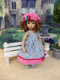 Summer Miss - dress, jacket, beret & sandals for Little Darling Doll or 33cm BJD
