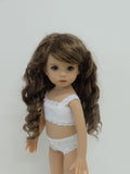 Summer Wig in Ginger Brown - for Little Darling dolls