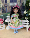 Summertime Beauty - dress, tights & shoes for Little Darling Doll or 33cm BJD