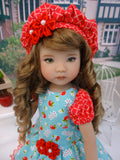 Sunny Day Orchards - dress, beret, socks & shoes for Little Darling Doll or other 33cm BJD