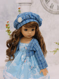 Suzie Snowflake - dress, jacket, beret, tights & shoes for Little Darling Doll