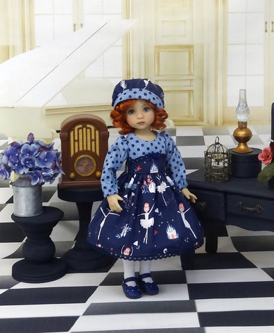 Swan Lake - dress, hat, tights & shoes for Little Darling Doll or 33cm BJD