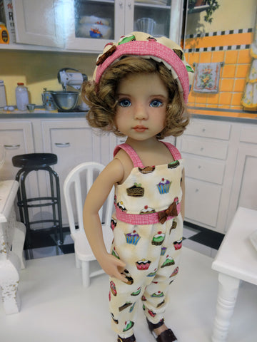 Sweet Bonbons - romper, hat & sandals for Little Darling Doll or 33cm BJD