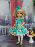 Sweet Gardenia - dress, tights & shoes for Little Darling Doll