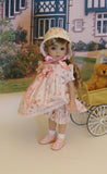 Sweet Innocence - dress, bonnet, bloomers, socks & shoes for Little Darling Doll or 33cm BJD