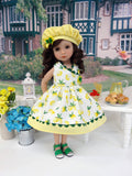 Sweet Lemon - dress, hat, & sandals for Little Darling Doll or 33cm BJD