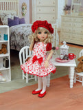 Sweet Love - dress, beret, tights & shoes for Little Darling Doll