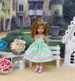 Sweet Meadow - dress, socks & shoes for Little Darling Doll or 33cm BJD