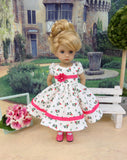 Sweet Rose - dress, tights & shoes for Little Darling Doll or other 33cm BJD