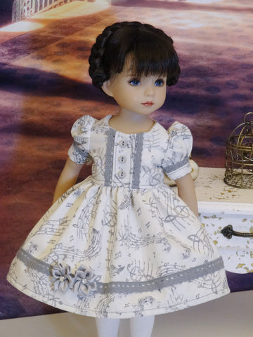 Sweet Serenade - dress, tights & shoes for Little Darling Doll or 33cm BJD