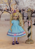 Sweet Snowman - dress, tights & shoes for Little Darling Doll or 33cm BJD