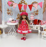 Sweetheart - dress, jacket, hat, socks and shoes for Little Darling Doll or 33cm BJD